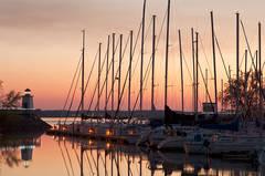 Evening Harbor Light
