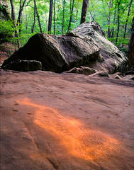 Mantle Rock, petroglyphs, kentucky, Shawnee Hills,