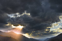 Morton Overlook, storm light, Great Smoky Mountains, Smokies, Spring in the Smokies,