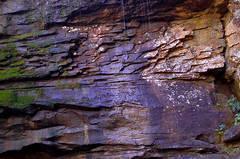Burden Falls Cliff Art
