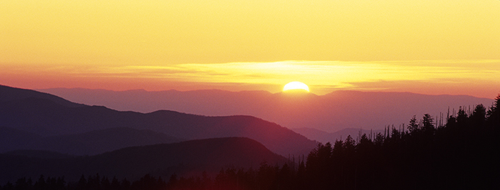 Clingman's Dome, Great Smoky Mountains, sunset, photo, spring photo, scenic photo, Tennessee scenic, photo