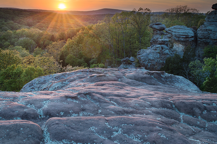 Solar Summons Garden Of The Gods Wilderness Shawnee National Forest The Photography Of