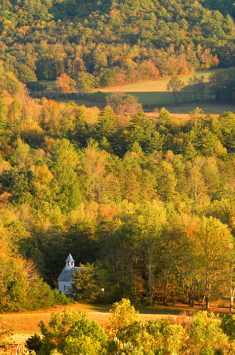 Great Smoky Mountains National Park, autumn, Rich Mountain Overlook, Cades Cove, , photo